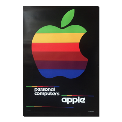 1980 Classic Apple Poster  The Missing Bite