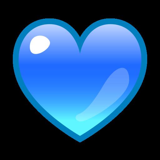 Blue Heart  ID 12937  Emojicouk