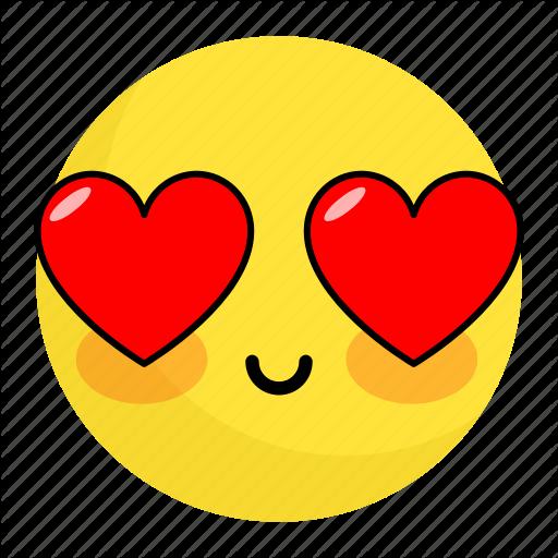Emoji face feeling happy heart love smile icon