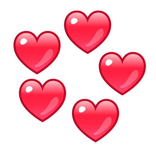 Revolving Hearts Emoji for Facebook Email  SMS  ID
