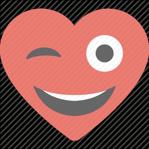 Adorable emotions heart emoji in love valentine icon