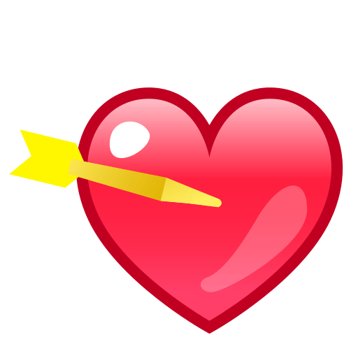 Heart With Arrow Emoji for Facebook Email  SMS  ID