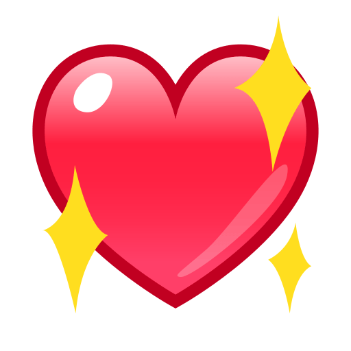 Sparkling Heart Emoji for Facebook Email  SMS  ID
