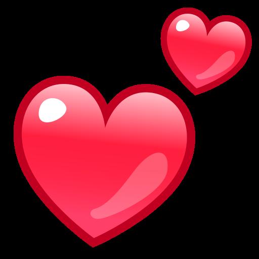 Two Hearts  ID 12940  Emojicouk