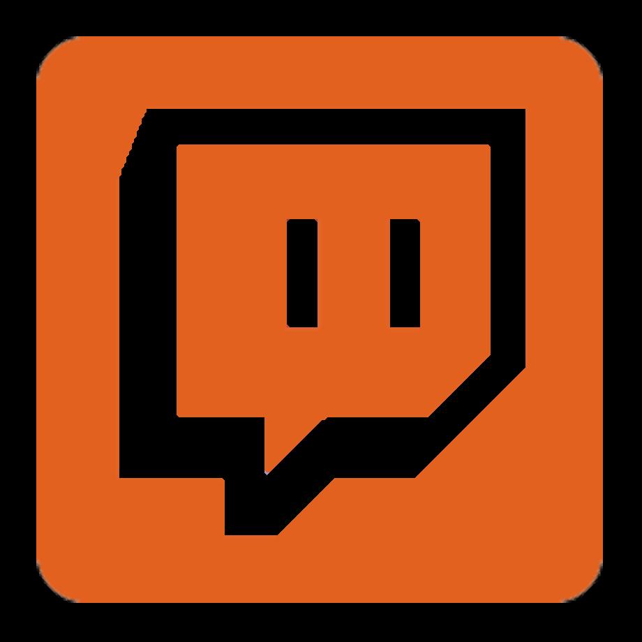 Download High Quality twitch logo png orange Transparent
