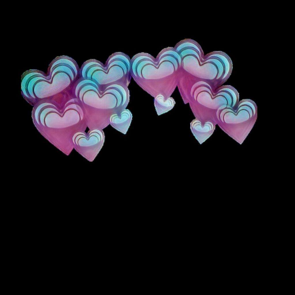 pastel pastelblue pastelpink emoji hearts crown