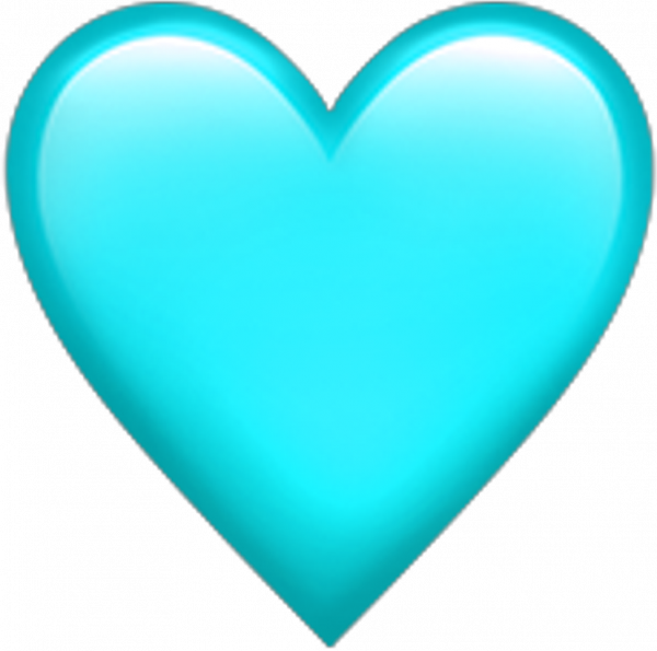 Teal transparentbackground Heart emoji transparent