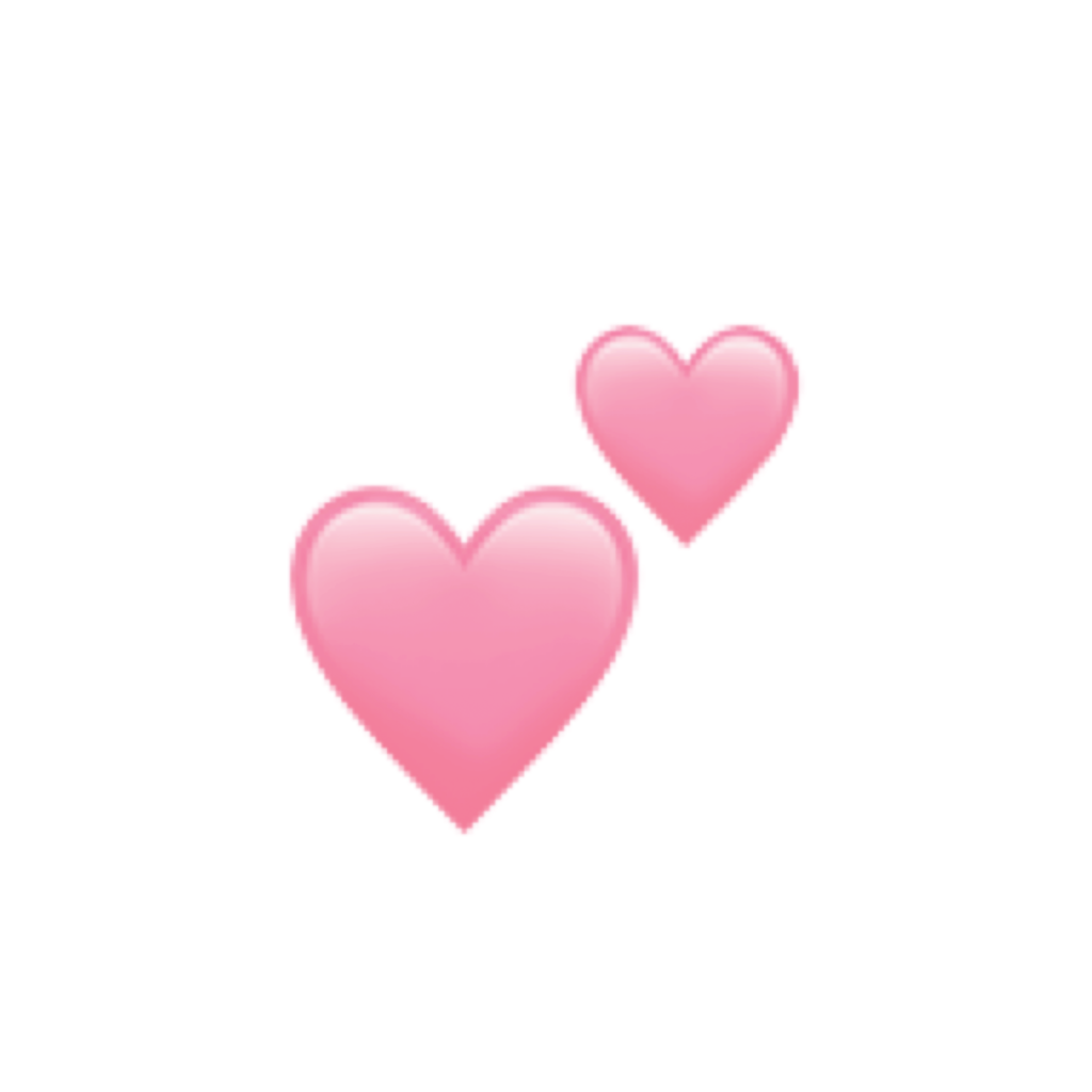 Aesthetic Pink Heart Emoji Transparent  Largest Wallpaper