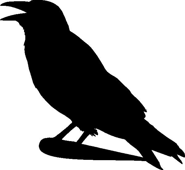 Crow Silhouette Clip Art at Clkercom  vector clip art