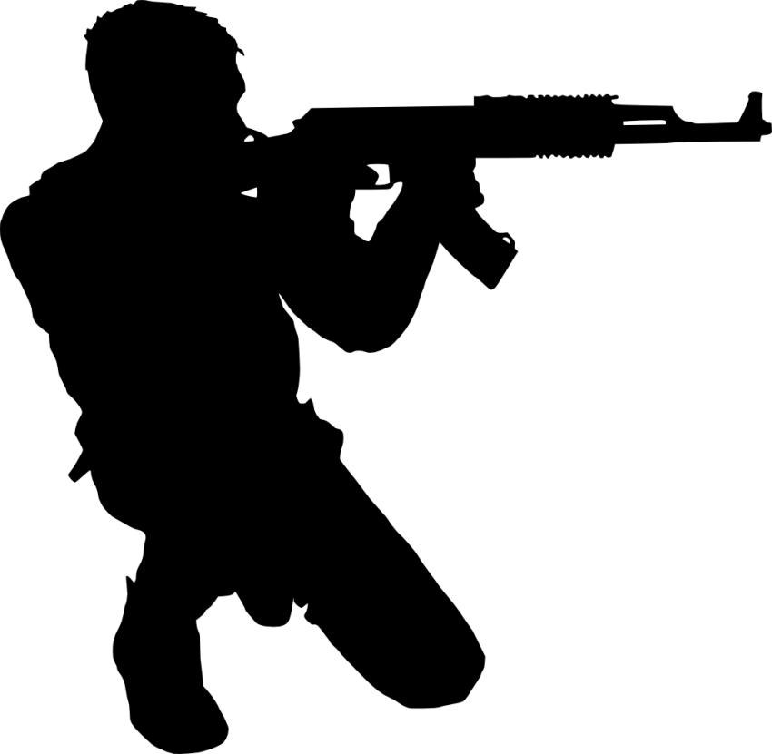 Silhouette Soldier  Silhouette png download  850831