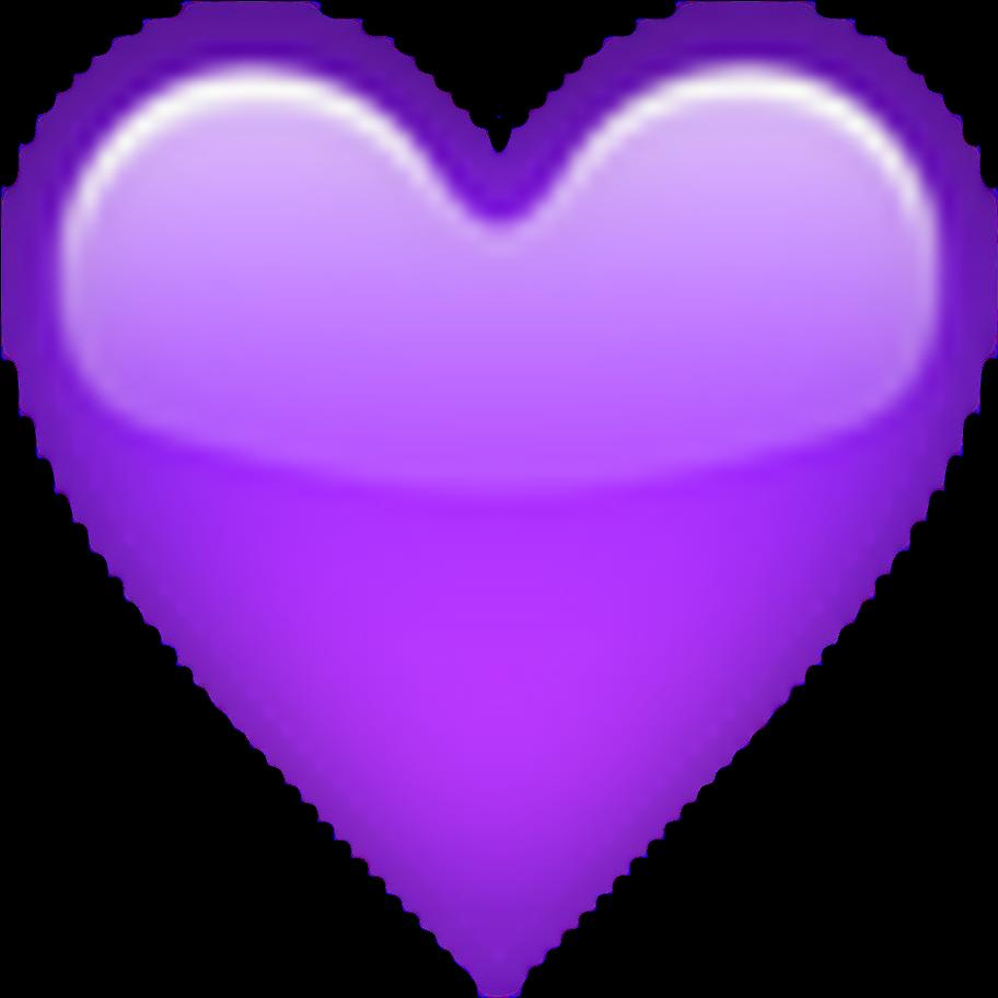 Heart Lila Purple Emoji Apple Freetoedit  Purple Love