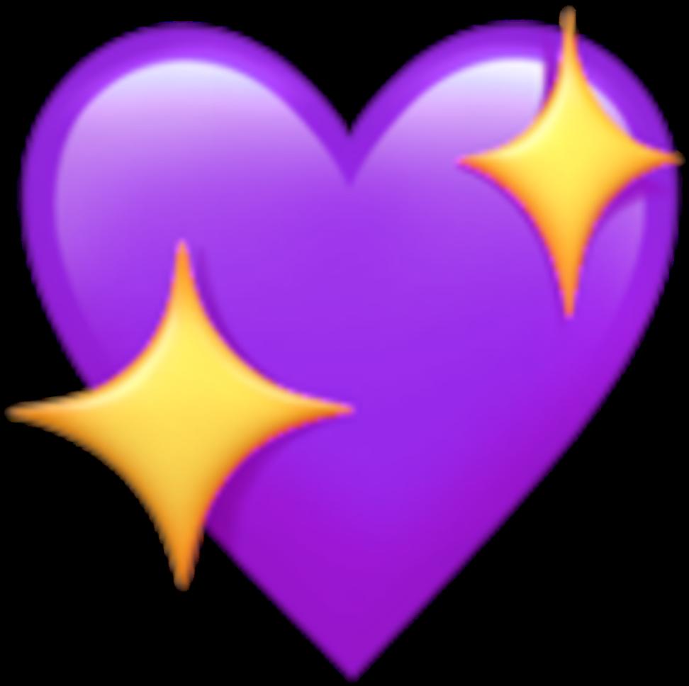purple star png  purple heart star emoji kawaii