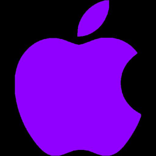 Violet apple icon  Free violet site logo icons