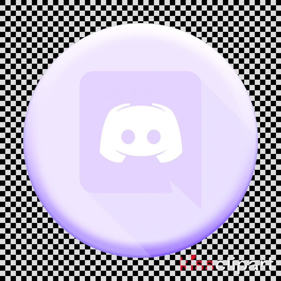 Discord icon Messenger icon clipart  Light Purple