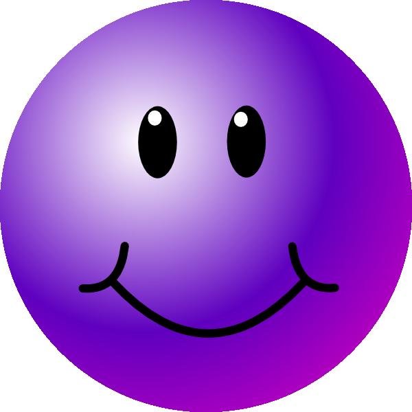 Purple Smiley Face Clip Art at Clkercom  vector clip art
