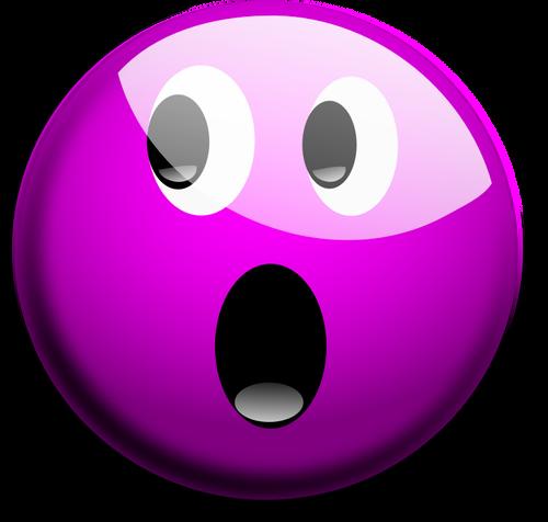 Vector graphics of purple OMG smiley  Public domain vectors