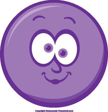 Purple Winking Smiley Face Clip Art  Winking Happy Face