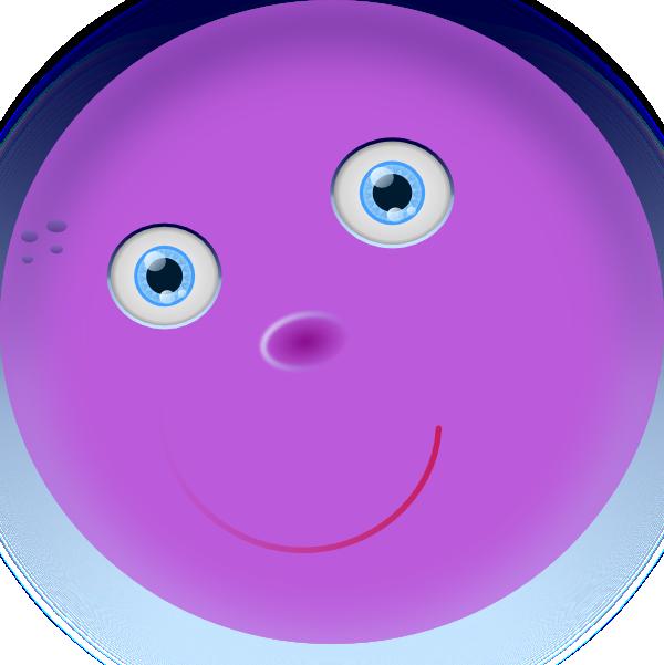 Round Purple Face Clip Art at Clkercom  vector clip art