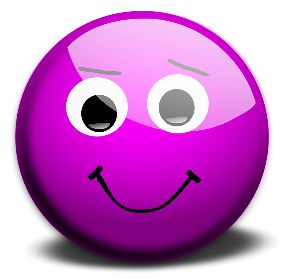 Smiley  Free Stock Photo  Illustration of a purple