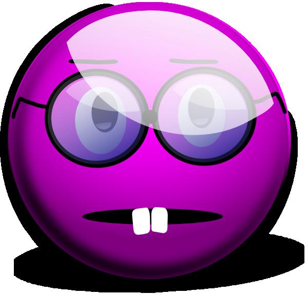 Purple Emoticon Clip Art  Glassy Smiley Emoticon clip art