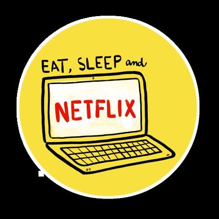 Eat Sleep and Netflix  Adesivos Impressão de adesivos e