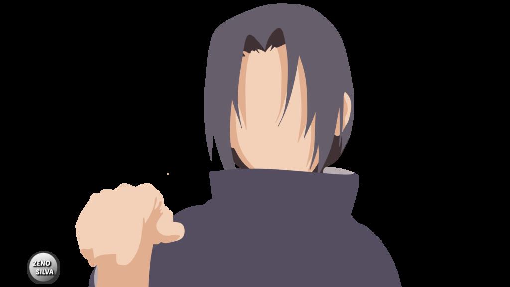 Itachi Uchiha Naruto Shippuden Minimalist Render by