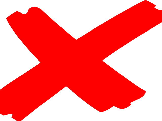Red Cross Mark Clipart Mistake  Red X Mark Transparent