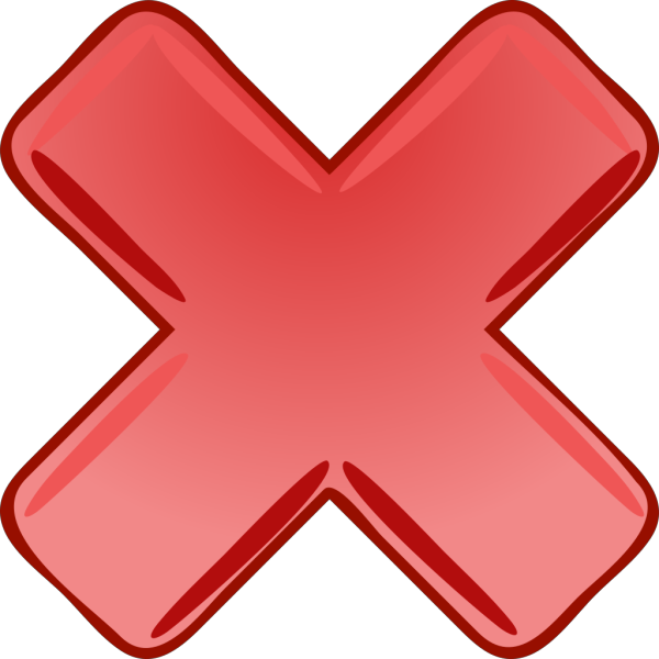 Red X Cross Wrong Not PNG SVG Clip art for Web  Download