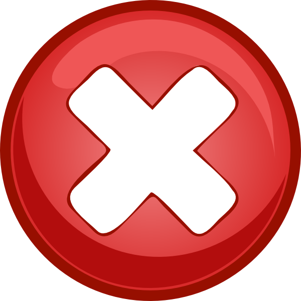 Red X Clipart  Clipart Suggest