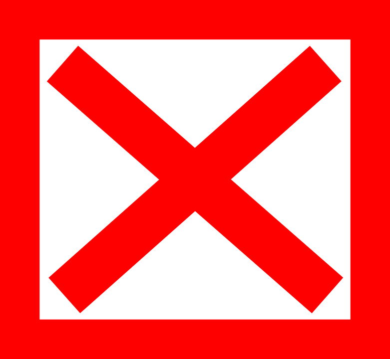 Cross X Red · Free vector graphic on Pixabay - Red Cross X