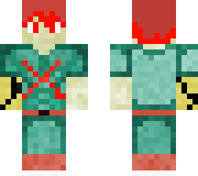 red hair deku  Minecraft Skin