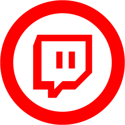 Red twitch tv 2 icon  Free red site logo icons