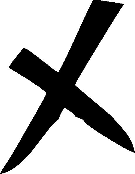 Black X Clip Art at Clkercom  vector clip art online