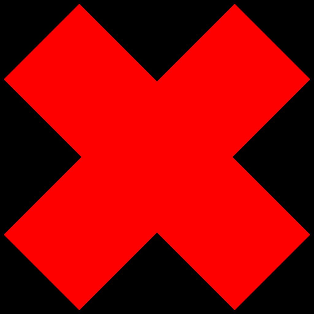 Error Check mark Clip art  red cross png download  2400