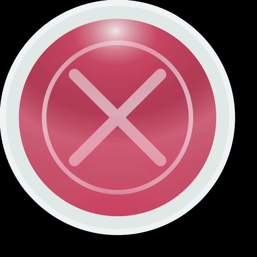Clipart  redbutton X