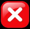X Red Opaque Button Clip Art at Clkercom  vector clip
