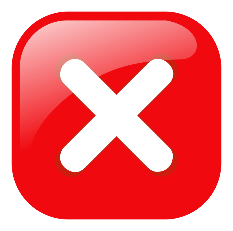 X Delete Button PNG Transparent Background Free Download