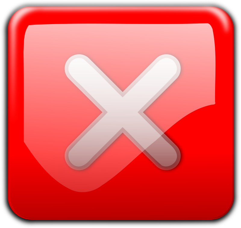 Clipart  Close Button red