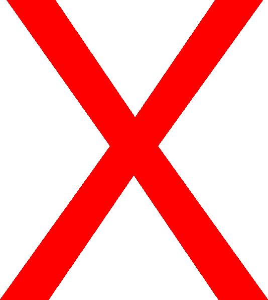 Big Red X Clip Art at Clkercom  vector clip art online