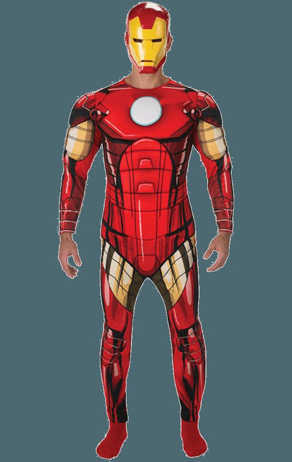 Adult Deluxe Iron Man Costume  Jokecouk