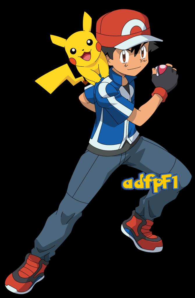 Ash XY y Pikachu 01 by adfpF1deviantartcom on