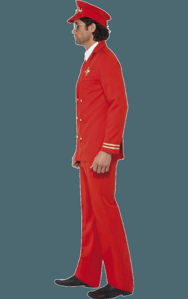 Adult High Flyer Red Pilot Costume  Jokecouk