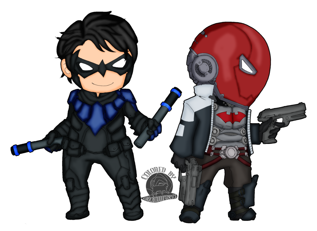 Nightwing and Red Hood  Weasyl