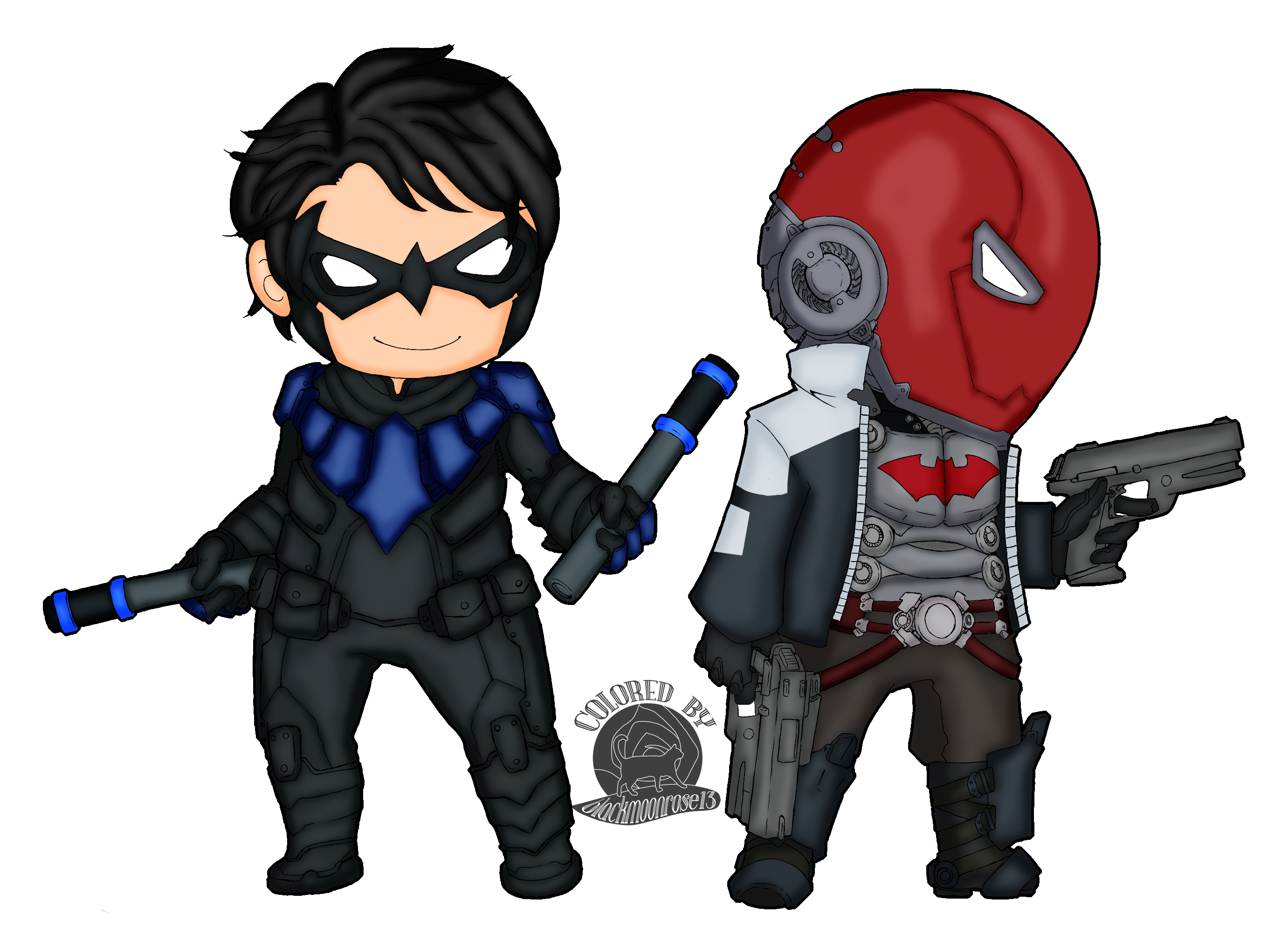 Nightwing and Red Hood — Weasyl - Red X DC Art