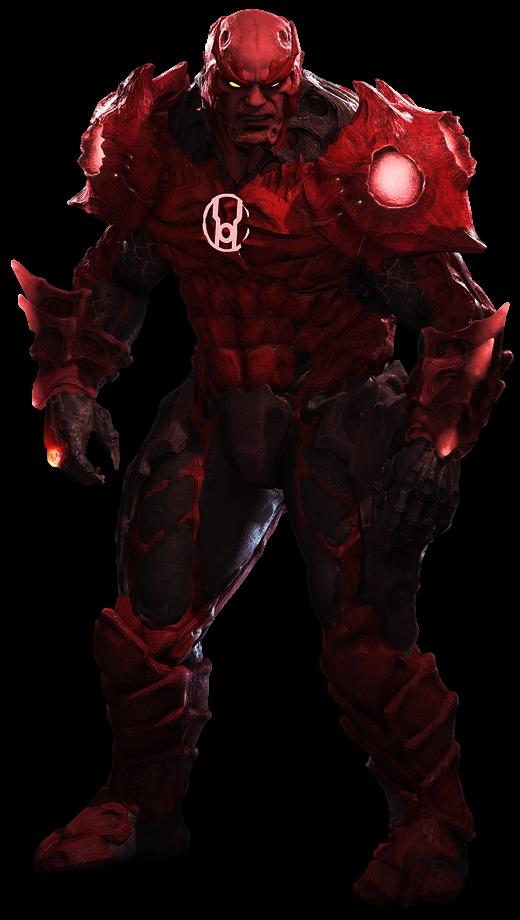 Red Lantern Atrocitus  Transparent Background by Camo