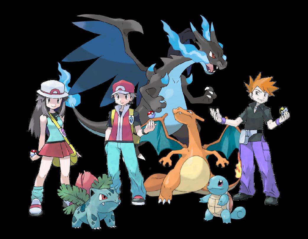 Pokémon Trainer Red/Blue/Green (Mega Charizard X final ... - Red X Green