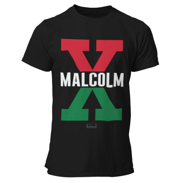 Malcolm X Red and Green Unisex Essential 100 Cotton T