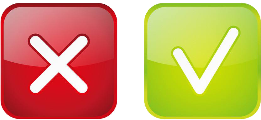 Green Check Mark Red Icon  Green Check And Red X Clipart