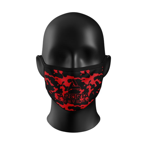 Red Camo Face Mask – Aporia Customs - Red X Mask