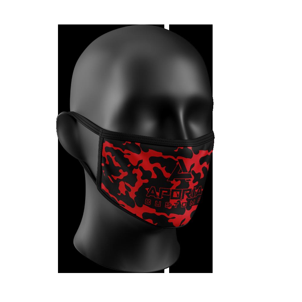 Red Camo Face Mask  Aporia Customs